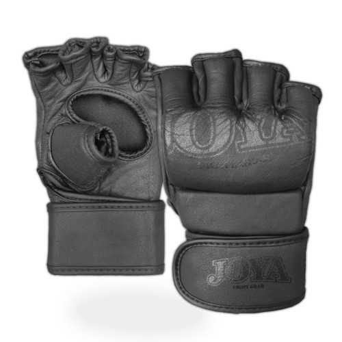 "Joya ""Fight Fast"" Leather MMA Grip Faded Black"