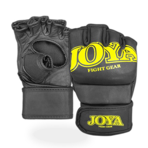 "Joya ""Fight Fast"" Leather MMA Grip Yellow"