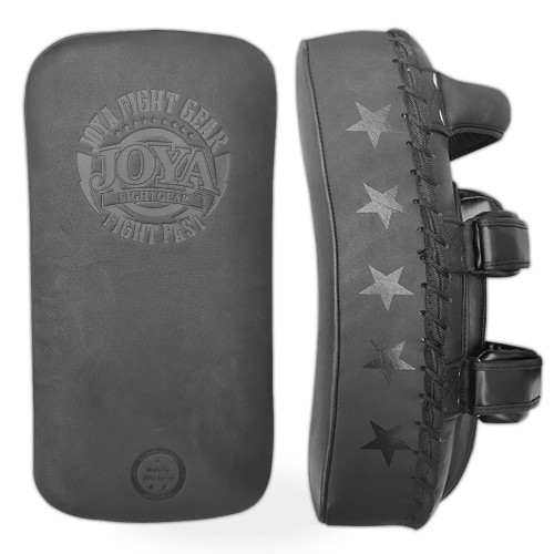 "Joya Thai Dura Pads ""Fight Fast"" Faded Black"
